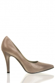 Leather pumps Nicole | taupe