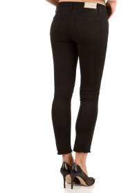 Current/Elliott | Cropped skinny ripped jean The Stiletto | zwart  | Afbeelding 5