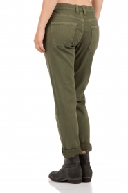 Skinny ripped jeans The Fling cropped | army green