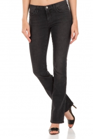 Current/Elliott | Slim-fit midrise boot cut jeans The slim boot | zwart   | Afbeelding 2