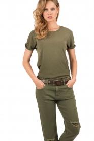 T-shirt The Rolled Sleeve Crew | legergroen