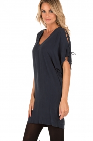Silk dress Sanny | dark bllue