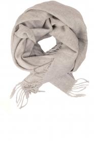 Becksöndergaard | Wollen sjaal Crystal | grijs  | Afbeelding 1