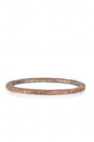 KMO Paris | Armband Oval | bruin   | Afbeelding 1