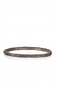 KMO Paris | Armband Oval | zwart   | Afbeelding 1