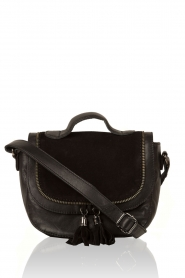 Leather shoulder bag Eldert | black
