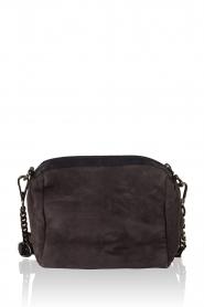 Leather shoulder bag Adrienne | grey blue