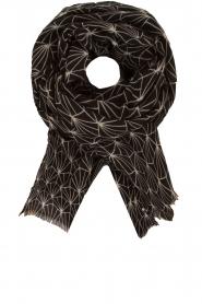 Becksöndergaard | Zijden sjaal Lalin | zwart  | Afbeelding 1