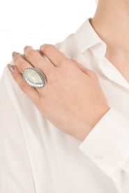 Silver ring with gemstone Gypsy blessing | mint green