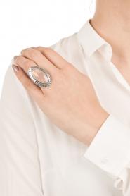 Close to Zen | Zilveren ring met edelsteen Gyspy blessing | zacht roze  | Afbeelding 3