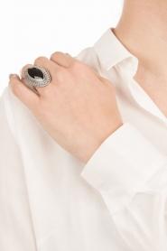 Close to Zen | Zilveren ring met edelsteen Gypsy blessing | zwart  | Afbeelding 3