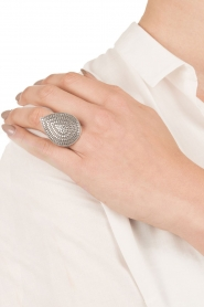 Close to Zen | Zilveren ring Wild Heart Large | zilver   | Afbeelding 3
