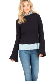 Hunkydory | Trui Gilcrest Knit | donkerblauw   | Afbeelding 2