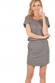 Hunkydory | Jersey jurk Peetz | grijs   | Afbeelding 2