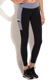 Side Pocket sports legging | black and grey