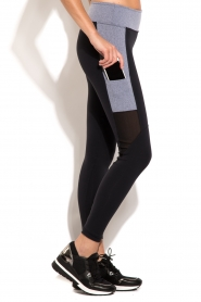 Deblon Sports | Side Pocket sportlegging | zwart en grijs   | Afbeelding 4