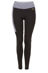 Side Pocket sportlegging | zwart en grijs
