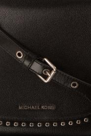 MICHAEL Michael Kors | Leren schoudertas Sadle Brooklyn | zwart  | Afbeelding 5