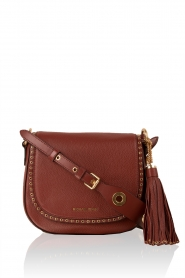 Leren schoudertas Sadle Brooklyn | brick red