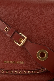 MICHAEL Michael Kors | Leren schoudertas Sadle Brooklyn | brick red  | Afbeelding 5