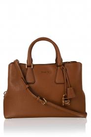 Leather shoulder bag Satchel Camille | brown