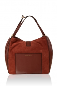 Leather shoulder bag Quincy | brick red
