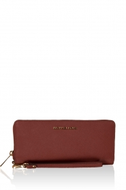 MICHAEL Michael Kors | Leren portemonnee Jet Set Travel | brick red  | Afbeelding 1
