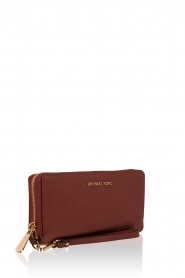 MICHAEL Michael Kors | Leren portemonnee Jet Set Travel | brick red  | Afbeelding 3