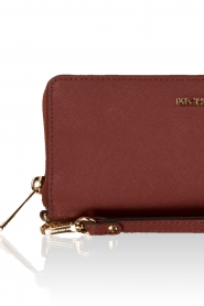 MICHAEL Michael Kors | Leren portemonnee Jet Set Travel | brick red  | Afbeelding 5