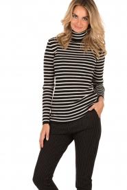 Turtleneck sweater Ella| black/white