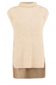 Set | Mouwloze gebreide trui Nora | zand  | Afbeelding 1