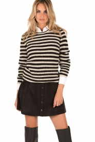 Knitted sweater Joy | black/white