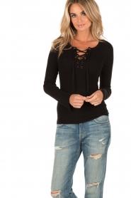 Set | Lace-up trui Gail | zwart  | Afbeelding 2