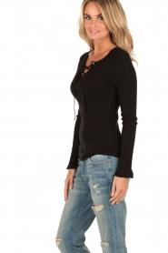 Set | Lace-up trui Gail | zwart  | Afbeelding 4