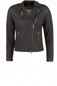 Leather biker jacket Jamie |  dark blue