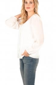 Set | Zijden Blouse Jane | wit  | Afbeelding 4