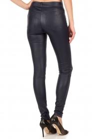 Set | Strechleren 5-pockets broek Lola | blauw  | Afbeelding 5