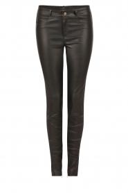 Set | Stretchleren 5-pocket broek Lola | zwart  | Afbeelding 1