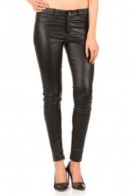 Set | Stretchleren 5-pocket broek Lola | zwart  | Afbeelding 2