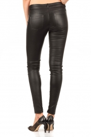Stretchleren 5-pocket broek Lola | zwart