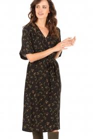 Set | Zijden jurk Poppy | zwart  | Afbeelding 2