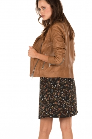 Leather biker jacket Jamie | brown