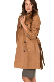 Leather trench coat Evelynn | camel