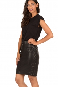 Leather skirt Celine | black
