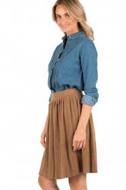 Leon & Harper | Denim blouse Chewie | blauw  | Afbeelding 4