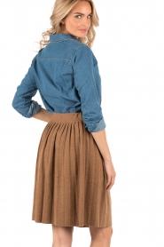Leon & Harper | Denim blouse Chewie | blauw  | Afbeelding 5