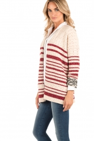 Knitted cardigan Monster | red