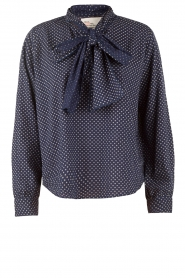 Bow-tie blouse Camille | blauw
