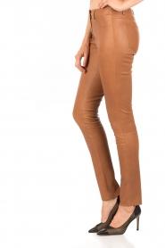 Skinny leather stretch pants Brandice | camel