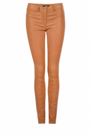 Skinny leather stretch pants Brandice | camel
